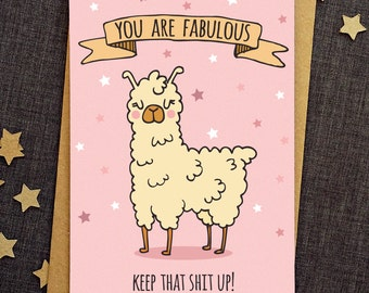 Funny Birthday Card - Funny Love Cards - Friend Birthday Card - Funny Friend Card - Anniversary Card - Llama Card - Funny Greeting Cards