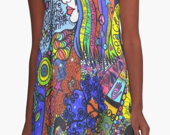 NEW A-Line 'Psych' Dress - Available in ALL sizes!