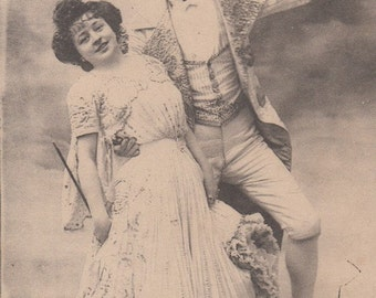 Cake-Walk dancing vintage French postcard .