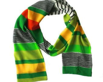 Scarf By Andie - Green Retro Stripe
