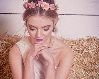 Autumn Flower Crown, Fall Floral Crown, Orange blossom Woodland Wedding, Festival Floral Crown, Bridal Hair Accessories