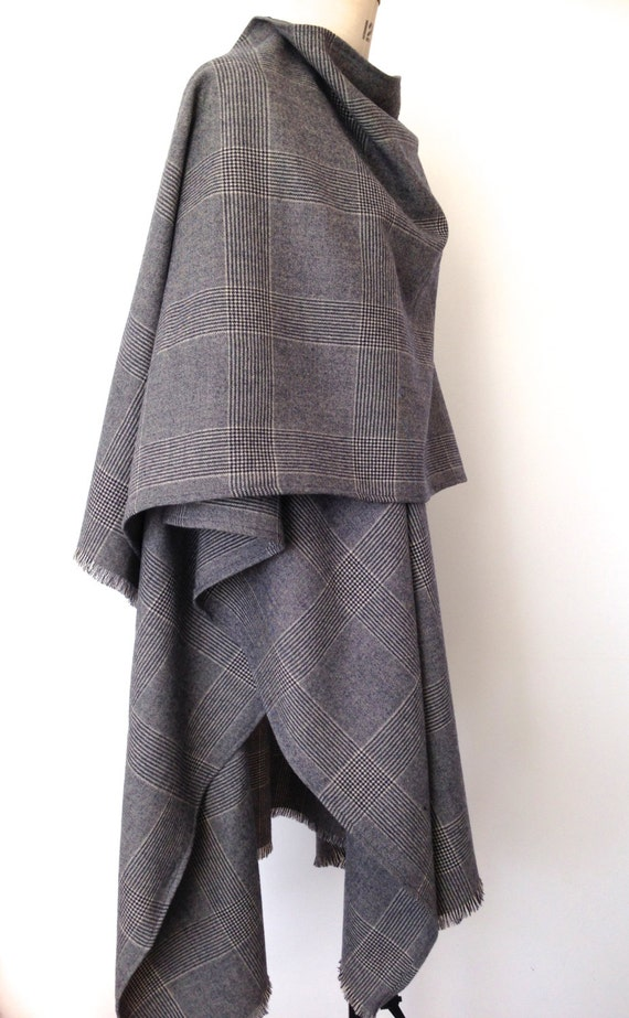 Cape Menswear Prince of Wales Check Cape by CardamomClothing