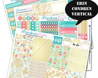 Summer Blossom Planner Kit 200+ diecut stickers / for Erin Condren Stickers / Life Planner Sticker / Planner Stickers #SQ00234-ECV