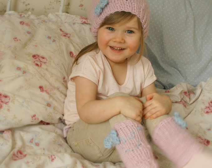KNITTING  PATTERN leg warmers and slouchy hat Fly (baby, toddler, child, adult sizes)