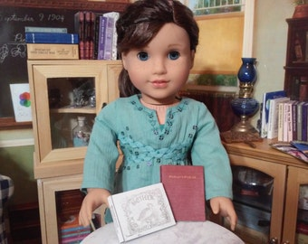 """Printable Victorian Books for 1/3 BJD and 18"""" Dolls like American Girl Accessories School Supplies"""