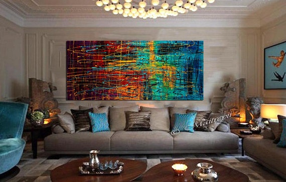 Jackson Pollock style Drip Art Painting extra large Abstract