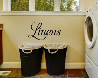 Linens Decal Laundry Wall Decal Laundry Room Decor Laundry Room Decoration Laundry Vinyl Decal Laundry Decal Laundry Room Vinyl