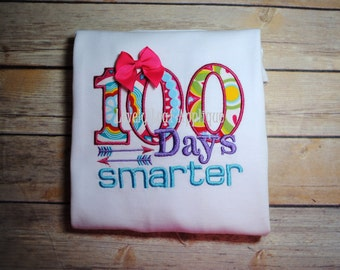 100 Days Smarter Embroidery Design 3 SIZES