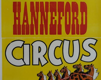1950s Hanneford Circus Poster II - Original Vintage Poster