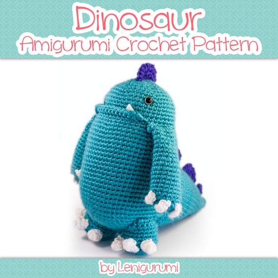 Crochet Patterns Intermediate : Amigurumi Pattern - Dinosaur - Intermediate crochet PDF pattern ...