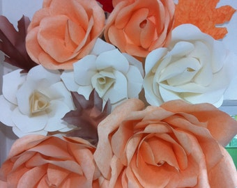 Paper Flowers Roses for Fall Season