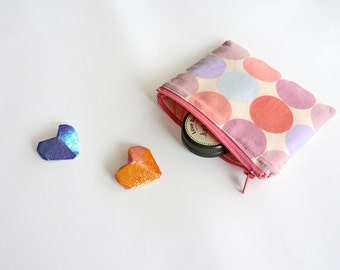 Small zipper bag, small cosmetic pouch, medicine pouch, pastel coin purse, gadget bag, utility bag,
