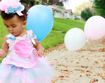 Circus Carnival Cotton Candy  tutu and top costume Carnival Costume, Clown Costume, Birthday outfit