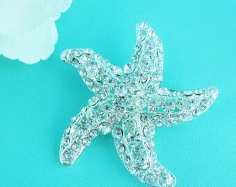Starfish Rhinestone Brooch, Wedding Brooch, Bridal Brooch, wedding brooches, wedding dress pin, bridal dress brooch, starfish pin 214937118
