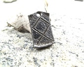 Othala rune pendant - blacksmith forged wrought iron medallion.