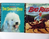 RESERVED FOR IRENE - Dogs!  2 x vintage Golden Books - 1970s Disney dogs - cute little scamps!