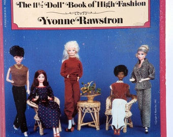 Vintage Barbie doll fashion book - very informative - by Yvonne Rawstron 1982