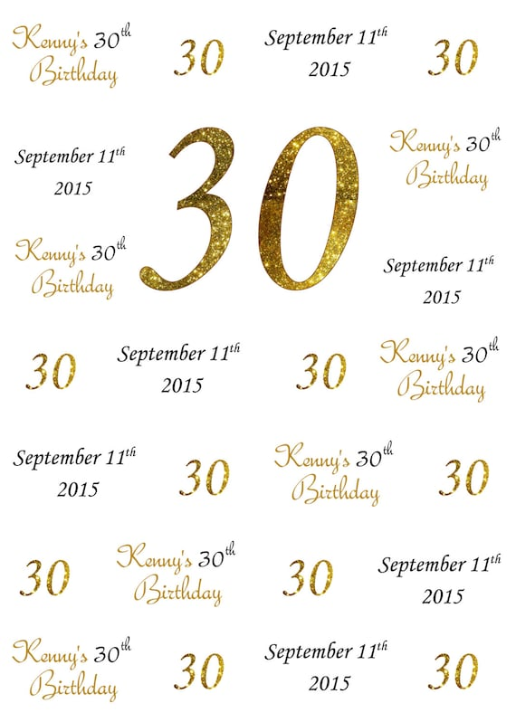 30th Birthday Step And Repeat Backdrop 50th Birthday Photo