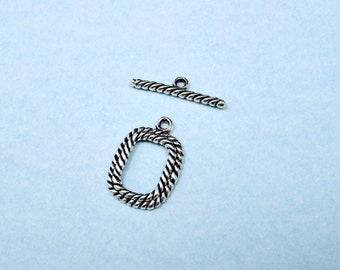10 Toggle Clasps Silver  -  Wholesale