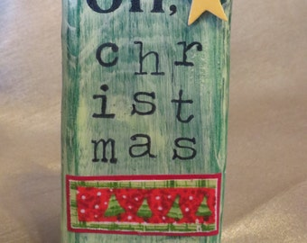 Oh Christmas Tree sign