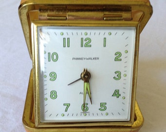 Vintage Phinney-Walker travel clock- Germany