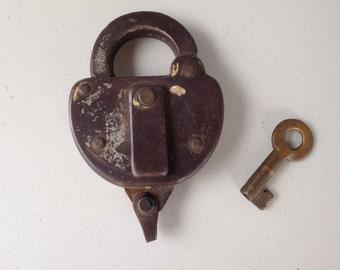 Wilson Bohannon Railroad Lock with Key