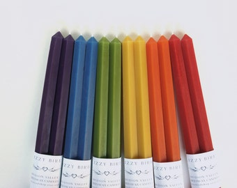 Hex Tapers, Hexagonal Candles, Beeswax Candles, Hexagonal Tapers, Taper Candles, Custom Colors, Customized Candles, Wedding Candles