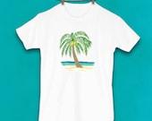 Cute Toddler Tshirt, Unique Kids Clothes, Palm tree shirt, Vacation shirts, Kids Clothes, Toddler, Coconut shirt, Hawaii, Island time