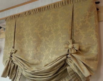 London Valance CUSTOM WINDOW TREATMENT (your fabric,my lining)