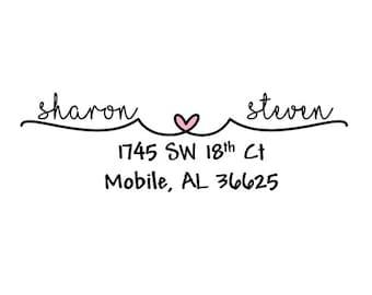 1 SHEET (30 labels) mr & mrs heart wedding engagement return address mailing label stationary sticker