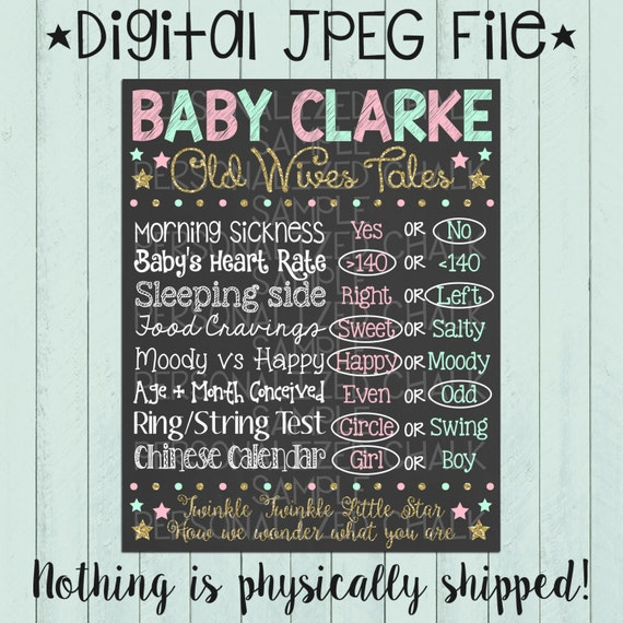 Old Wives Tales Chalkboard Poster Printable by ...