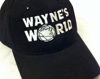 Wayne's World Hat Wayne Campbell Halloween Costume Waynes World embroidered adjustable cap