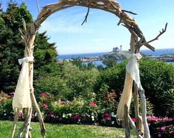 Driftwood Wedding Arch | Arbor - Wedding Ceremony Arbor - Driftwood Arch For Wedding Ceremony - Maine Wedding Decoration - Beach Wedding