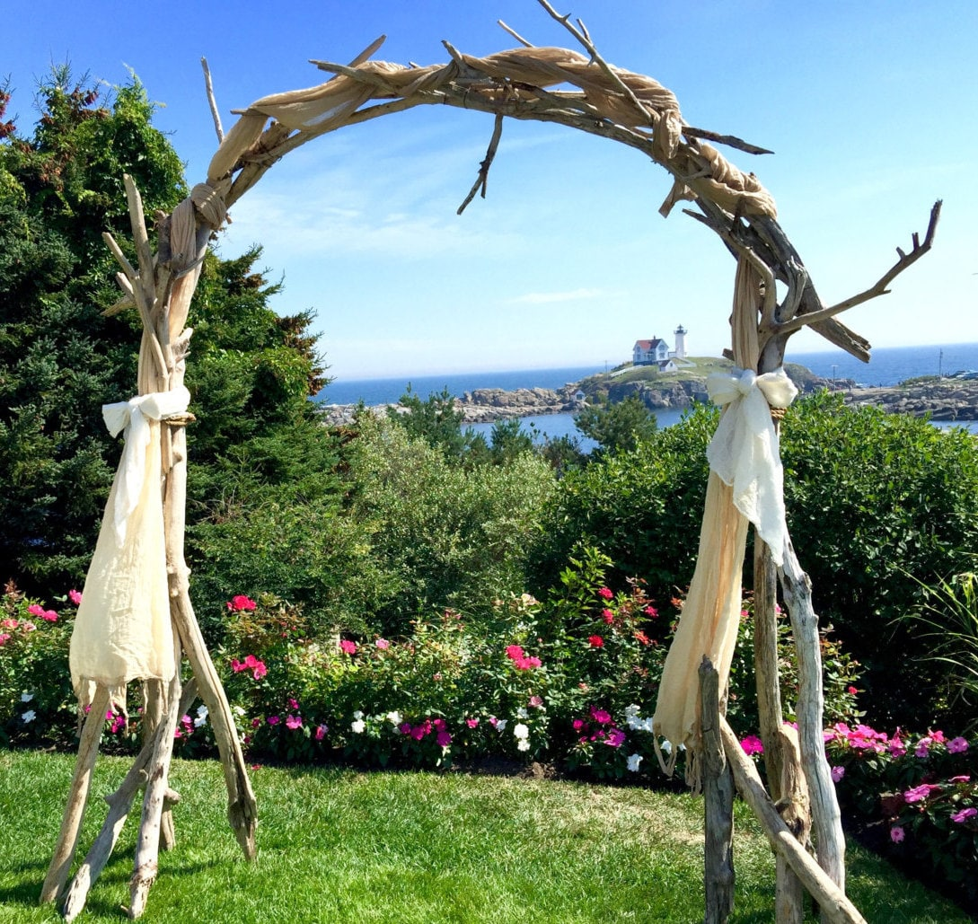 Diy Beach Wedding Arch: Driftwood Wedding Arch Arbor Wedding Ceremony Arbor