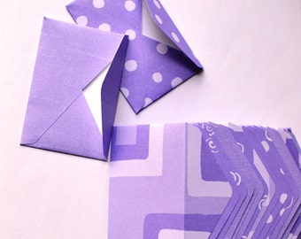 Purple Mini Envelopes - Variety Set of 10 - Purple Envelopes - Lavender Envelopes - Mini Envelopes - Gift Card Envelopes - Envelopes