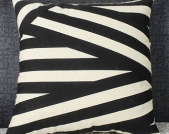LAST 4! French Cushion Cover - Coco Black and Taupe