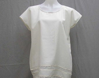 Cream tunic, Plus size Tunic, plus size Caftan, plus size kaftan, plus size cover up, boho caftan, ivory kaftan, 1x 2x 3x caftan, upcycled