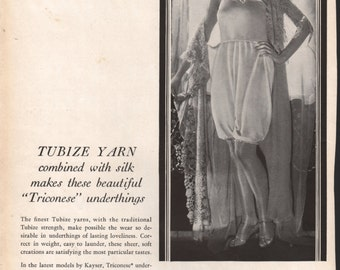 Lingerie, stockings, underwear, hosiery, fabric, swimwear; 1920s Tubize yarn underthings; approx. 9x12 in. - PD001931