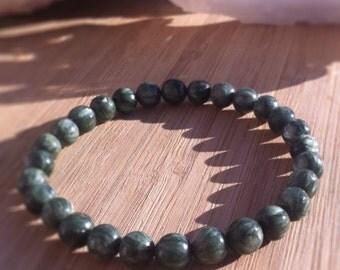 6mm High Quality Seraphinite Healing Stone Bracelet