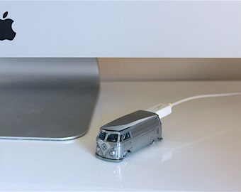 Custom 16GB to 128GB USB 3 Flash Drive - Polished Volkswagen T1 Panel Bus