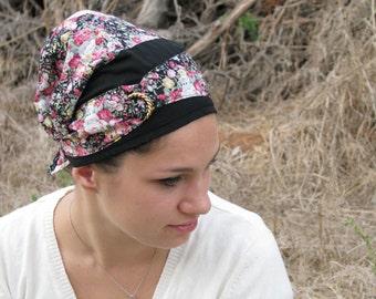 Pre tied  head wrap,hair wrap,tichel,head scarf,hijab,womens head wrap,hair covering