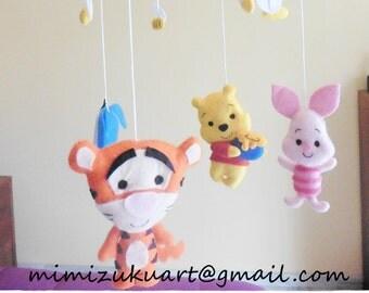 Winnie the pooh mobile, Móvil inspirado en Winnie de Pooh, Tigger, Piglet, Eegore