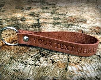 Monogram keychain Leather keyring Mens gift Husband gift Boyfriend gift Gift for men Groomsmen gift 3rd anniversary gift Personalised gift