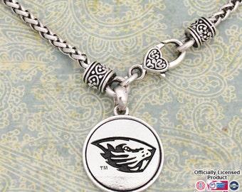 Oregon State Beavers Medallion Clasp Necklace