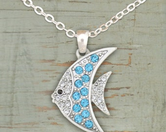 Aqua Fish Necklace - 50556