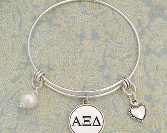Alpha Xi Delta Memory Wire Bracelet - AXD56953