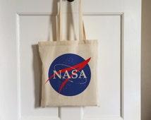 NASA Vintage Style Cotton Tote Bag