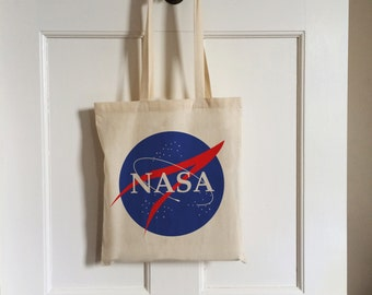NASA Vintage Style Cotton Tote Bag