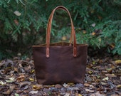 Leather Tote Bag - The Avery Tote - Small Leather Tote Bag