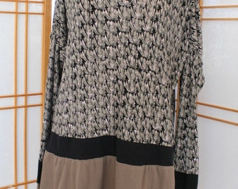 Brown and Taupe Tunic